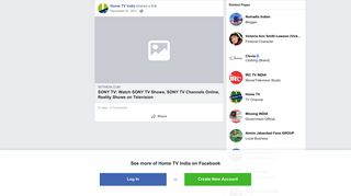 Home TV India - Home TV India shared a link. - Facebook