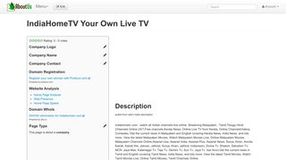 IndiaHomeTV Your Own Live TV - AboutUs