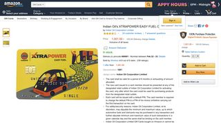 Indian Oil's XTRAPOWER EASY FUEL CARD - Rs.1001: Amazon.in ...
