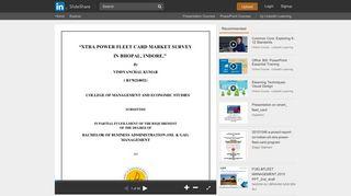 XTRA POWER FLEET CARD MARKET SURVEY - SlideShare