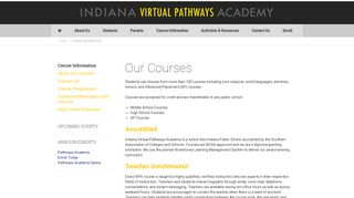 Course Information - Indiana Virtual Pathways Academy