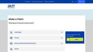 Make a claim   iA Financial Group