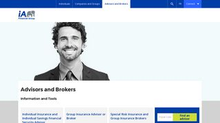 Advisor & Broker - Information & Tools   iA Financial Group