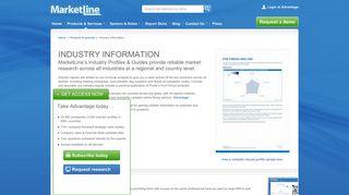 Industry Reports | MarketLine | Marketline