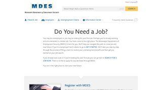 MDES - I Need A Job