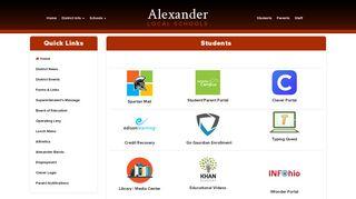 Students - Alexander Local Schools