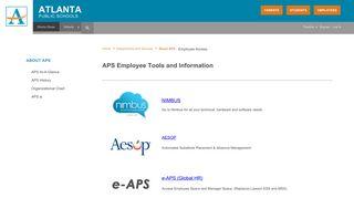 About APS / Employee Access - Atlanta Public Schools
