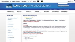 Infinite Campus Help Page - The Kenton County School District