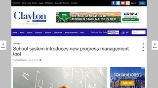 School system introduces new progress management tool | News ...