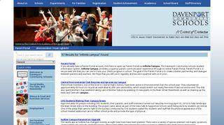 infinite campus | Search Results | Davenport Schools