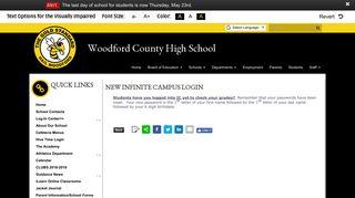 New Infinite Campus Login - Woodford County High School