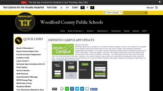 Infinite Campus App Update - Woodford County Public Schools