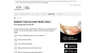Online Account - Infiniti Financial Services