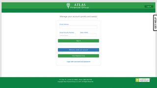 Personal Info Log In - Atlas Mobile Statements