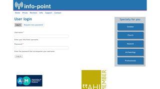 User login   Info-Point