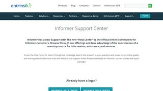 Customer Support   Entrinsik : Entrinsik