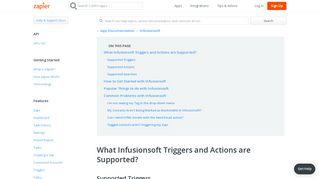 Infusionsoft - Integration Help & Support | Zapier