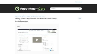 Setting up your AppointmentCore Admin Account - Setup Admin ...