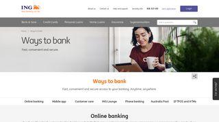 Internet Banking with ING