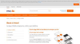 App ING, entra nel nostro mobile banking | ING