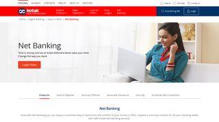 Net Banking - Online Banking, Internet Banking by Kotak Bank