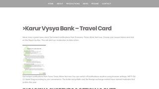 Ing Vysya Bank Forex Login — Multicurrency Travel Card