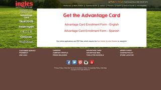 AdvantageCard Sign-Up Form - Ingles Markets