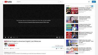 British English vs American English | Las Diferencias - YouTube