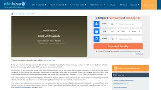 Exide Life Insurance - Compare Plans,Premiums & Benefits   Reviews