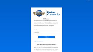 Universal Partner Community: Partner Login