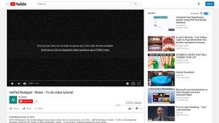 InkPad Notepad - Notes - To do video tutorial - YouTube