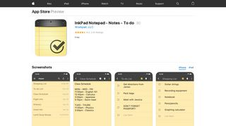 InkPad Notepad - Notes - To do on the App Store - iTunes - Apple