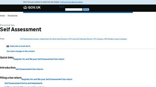 Personal tax: Self Assessment - GOV.UK