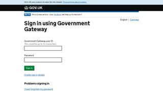 Registration - Government Gateway - HM Revenue & Customs