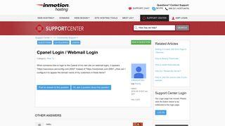 Cpanel Login / Webmail Login   InMotion Hosting