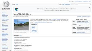 Innisfil Public Library - Wikipedia