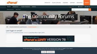 Last login in email? | cPanel Forums