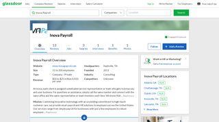 Working at Inova Payroll | Glassdoor