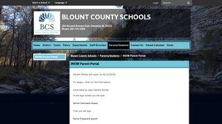 INOW Parent Portal - Blount County Schools