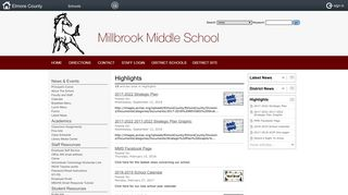 Millbrook Middle School: Highlights - Parent Portal for INOW