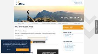 IMG Producer Login