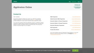 INSEAD - iApply - Contact Us
