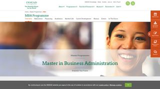 One-year MBA Programme   INSEAD