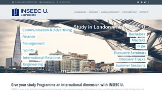 Welcome to Inseec U. London