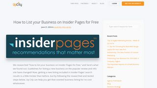 How to List your Business on Insider Pages for Free   UpCity