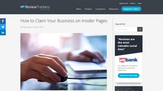 How to Claim Your Business on Insider Pages   ReviewTrackers