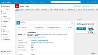 Insider Pages   Crunchbase