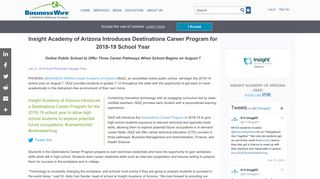 Insight Academy of Arizona Introduces Destinations ... - Business Wire