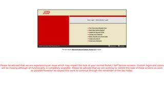Self Service Portal - ADP Portal
