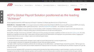 ADP Payroll | Human Resource Management - ADP earns highest ...
